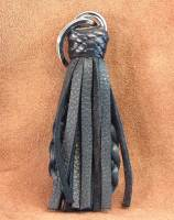 Black deer leather fob